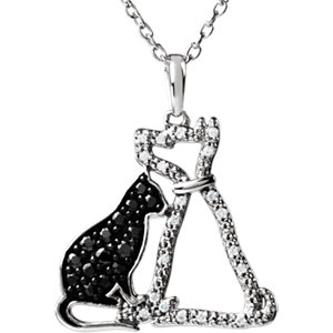Tender Voices® Cat & Dog Silhouette Necklace