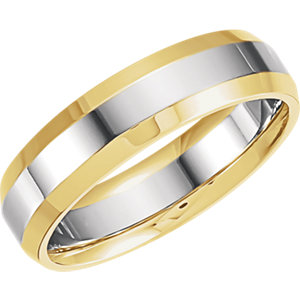 Two-Tone 6mm Comfort-Fit Band