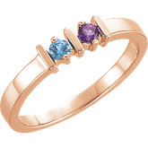 14kt Rose Two-Stone Ring Mounting for Mother