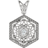 Diamond Filigree Pendant or Mounting