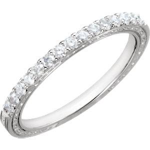 Diamond Semi-mount Vintage Engagement Ring or Band