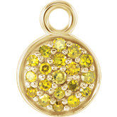 Accented Yellow Diamond Dangle