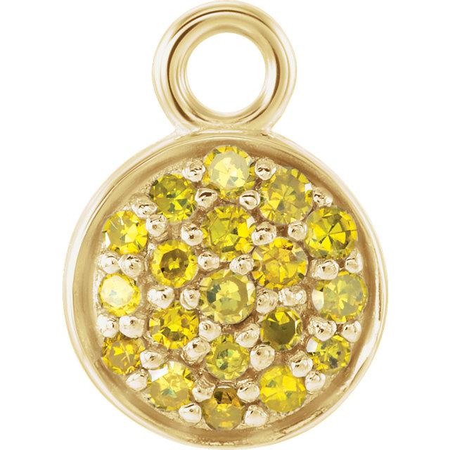 14K Yellow 1/10 CTW Yellow Diamond Dangle