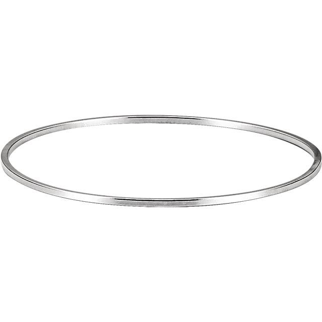 Sterling Silver 1.75mm Bangle Bracelet