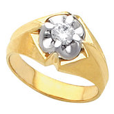 Men's Belcher Solitaire Ring Mounting
