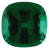 Antique Square Chatham Created Emerald