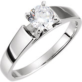 4-Prong Solitiare Engagement Ring or Band
