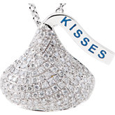 HERSHEY'S KISSES® Flat Back Diamond Necklace