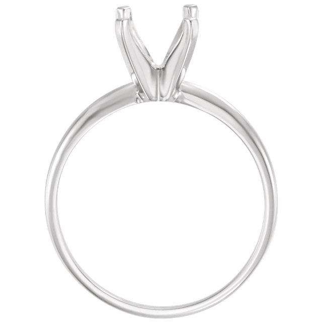 14K White 6-6.6mm Round Engagement Ring Mounting