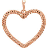 Heart Rope Design Pendant