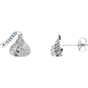 HERSHEYS KISSES Flat Back .13 CTW Diamond Stud Earrings