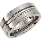 Stainless Steel Grooved Beveled Band