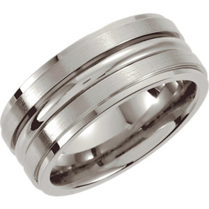 8mm Grooved Ridged Band