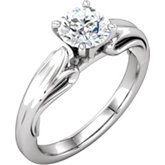 Diamond Sculptural Design Engagement Ring, Semi-mount or Base