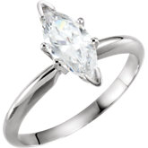 V-Prong Solitaire Engagement Ring