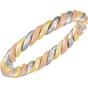 Tri-Color 2.5mm Hand-Woven Band
