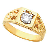 Men's Solitaire Nugget Ring Mounting