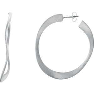 Wave-Style Hoop Earrings