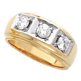 Men's 3 Stone Ring Mounting
