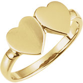 Double Heart Signet Ring