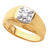 Men's Illusion Solitaire Ring Mounting