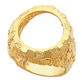 Gents Nugget Coin Ring