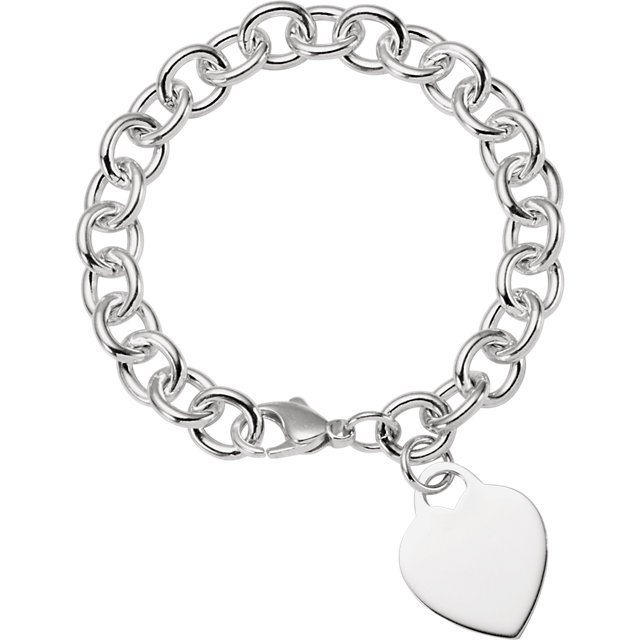 Sterling Silver Heart Charm Only
