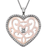 Diamond Heart Shape Necklace