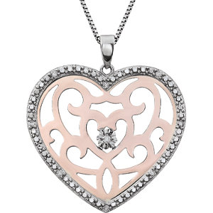 Diamond Heart Shape Necklace