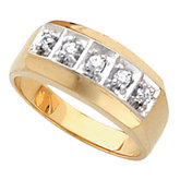 Men's 5 Stone Solid Ring Mounting
