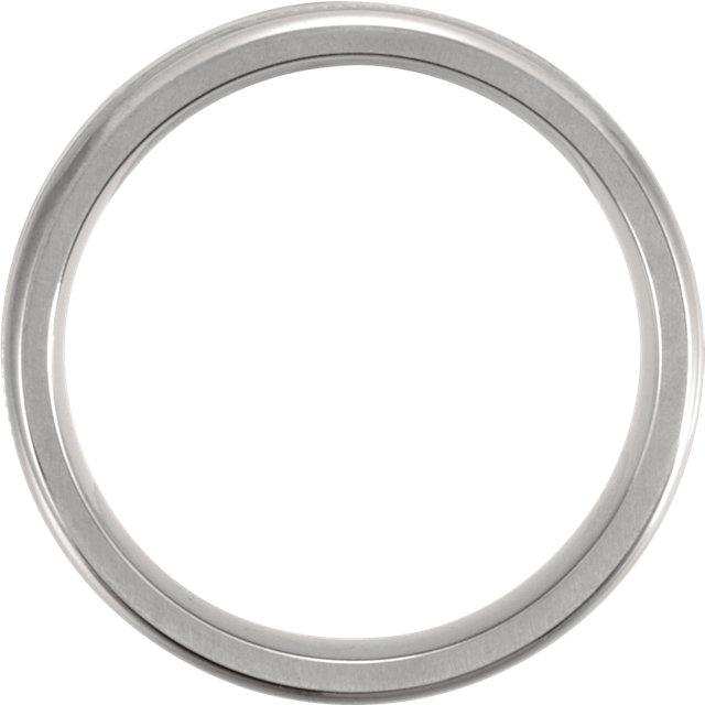 Titanium 7mm Satin Finish Center & Polished Milgrain Band Size 7