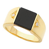 Men's Ring Mounting for Square Onyx