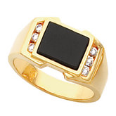 Men's Ring Mounting for Cushion Onyx