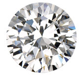 Round Imitation Diamond
