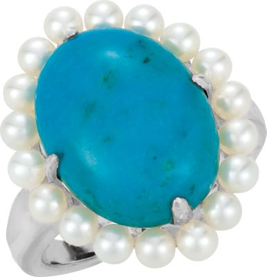 turquoise pearl ring