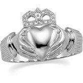 11mm Men's Claddagh Ring