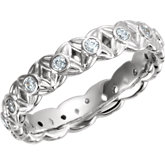 Sculptural-Style Engagement Ring or Eternity Band