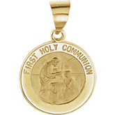Hollow Round First Holy Communion Medal