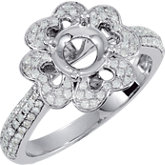 Floral-Inspired Semi-Mount Engagement Ring