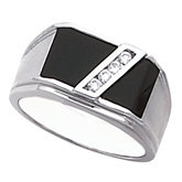 4-Stone Men's Ring Mounting