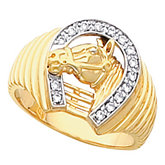 Men's Horseshoe Ring Mounting