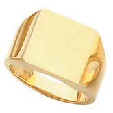Solid Men's Signet Ring