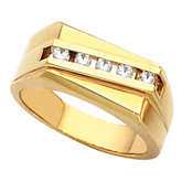 9.5mm Men's 5 Stone  Ring Mounting