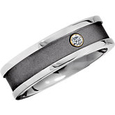 .05 ct Diamond Titanium Band