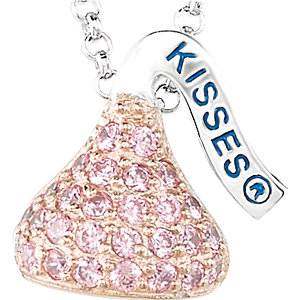 HERSHEY'S KISSES Flat Back Cubic Zirconia Birthstone Necklace