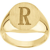 Men's Hollow Signet Ring