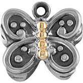 Two Tone Butterfly Dangle