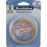 Beadalon®  Square Tarnish Resistant Brass Plated Wire