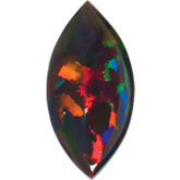 Marquise Lab Created Black Opal