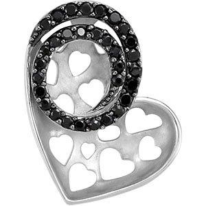 Black Spinel Heart Pendant